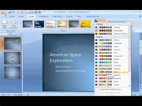 Powerpoint 2007 Demo Create A Powerpoint Template Youtube Powerpoint Make Template