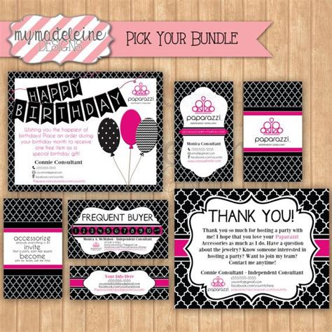 Paparazzi Pick Your Package Business Package Business Card Gift Certificate Frequent Paparazzi Gift Certificate Template