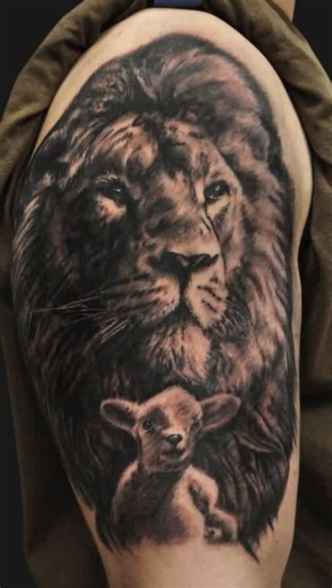 83 lovely lion shoulder tattoos