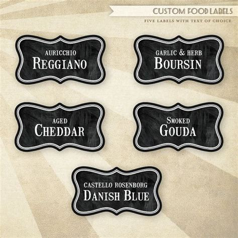 Printable Cheese Tags | rustic wine cheese printable food labels labels and