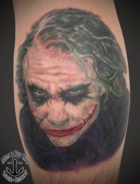 jokers tattoo and piercing calgary portrait tattoo of quot the joker quot by tattoo artist derek quot dak