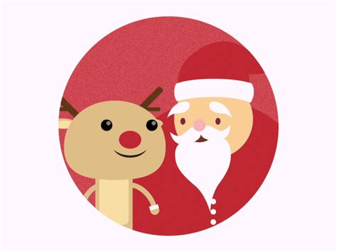merry christmas  santa  rudolf  anthony maneschijn dribbble dribbble