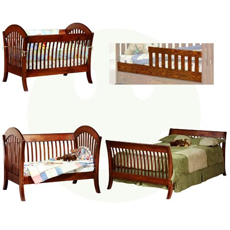 Baby Cribs Made In Usa Pacifica Convertible Baby Crib Made In Usa Solid Wood American Eco Furniture