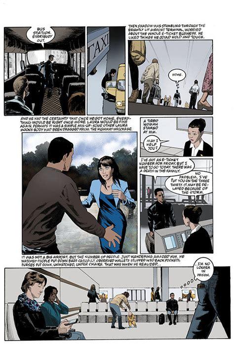 american gods volume 1 shadows graphic novel meet shadow moon in preview of neil gaiman s