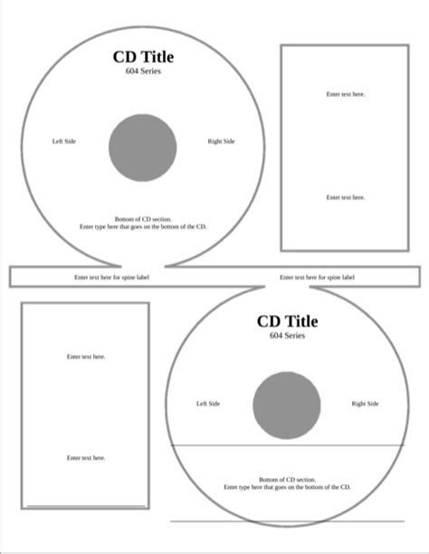 download cd label template for free formtemplate