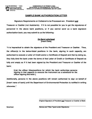 printable authorization letter bank forms