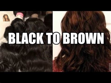 how to naturally lighten black dyed hair how to dye your hair from black to brown doovi