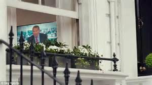 runs out front door david beckham in new sky sports advert for upcoming