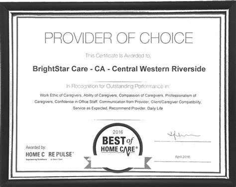 awards central western riverside co brightstar care
