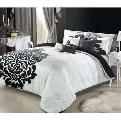 8 pc bedding set comforter set bed in a bag black