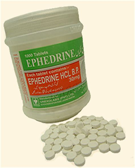 ephedrine hcl 30mg by unexo x 1000 tablets 24hrpharmausa