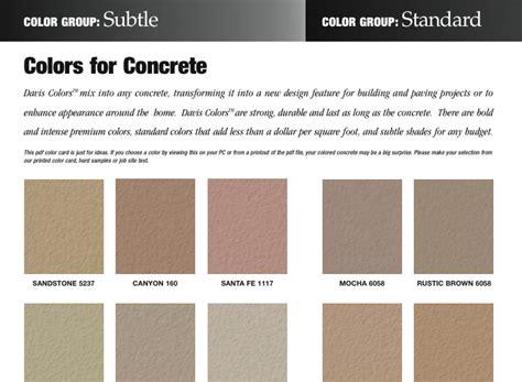 concrete color concrete color card davis colors