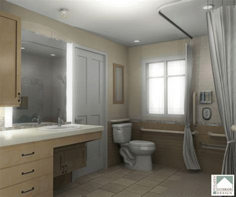 Recession Remodel for AARP Accessible Bathroom   Bath Remodeling   Penates Design
