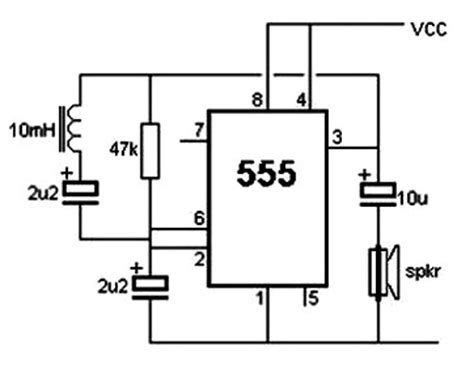 metal detector circuit diagram pin metal detector schematic circuit using cs209a on