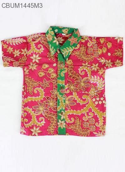 Batik Kemeja Anak 3c47ka S kemeja anak batik motif kembangan size s anak murah batikunik