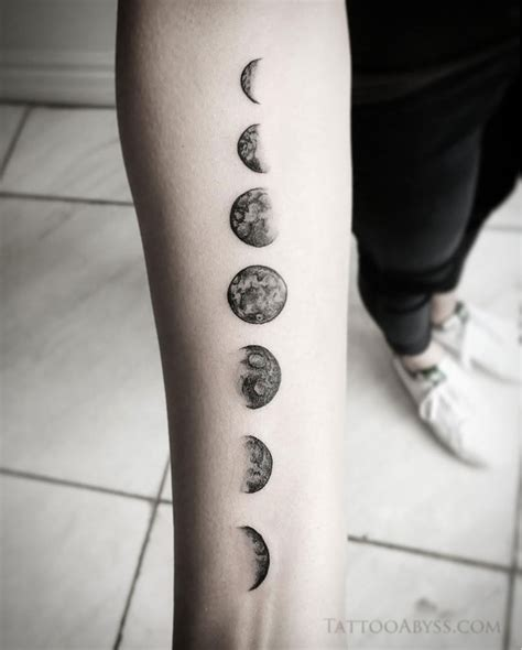 moon cycle tattoo moon phases abyss