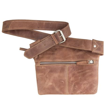 morgado soft brown leather belt travel pouch