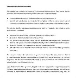 simple collaboration agreement template 9 partnership termination letter templates free sle