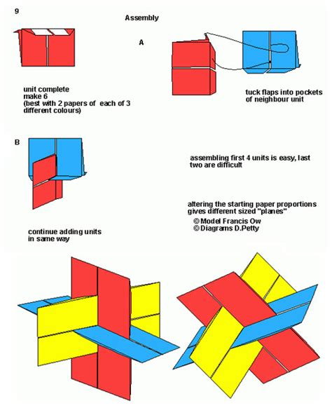 Origami Xyz - francis ow s origami diagrams xyz rectangles modular