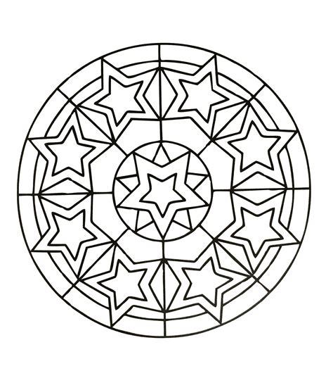 Simple mandala 78   Mandalas Coloring pages for kids to