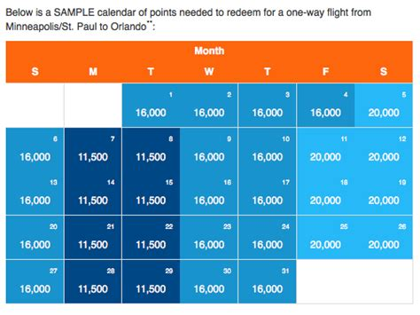 Sun Calendar Frequent Flyer Program Archives Frequently Flying