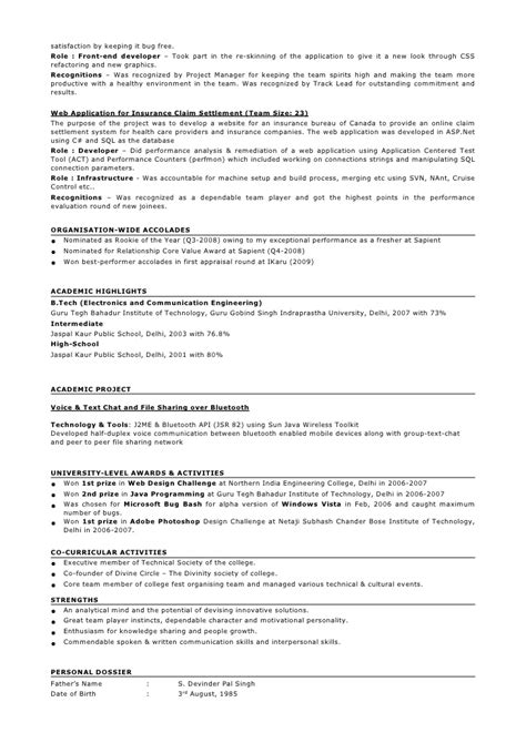 experience resume sample for software engineer krida info