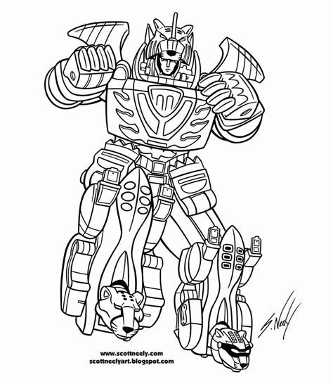 coloring pages power rangers megazord coloring pages 2