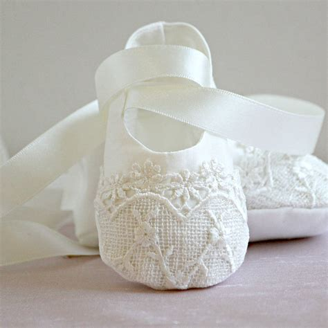 baby ballet slippers christening booties by adore baby