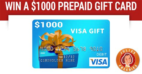 Prepaid Gift Cards - win a 1000 prepaid gift card 5 winners julie s freebies