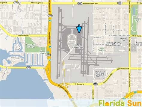 tampa international airport rental car map