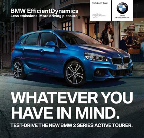 design then test drive at the all new test track test drive the new bmw 2 series active tourer at smg south