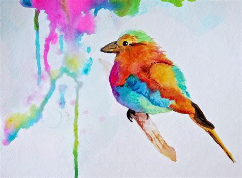 birds painting colorful watercolor bird painting marcia beckett