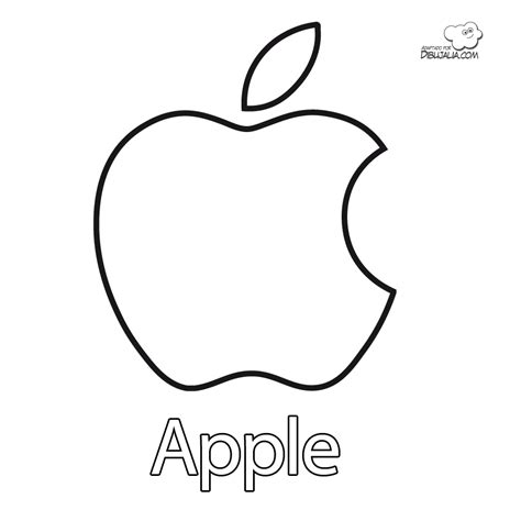 Apple Logo Coloring Pages | logo apple para colorear apple for coloring dibujos