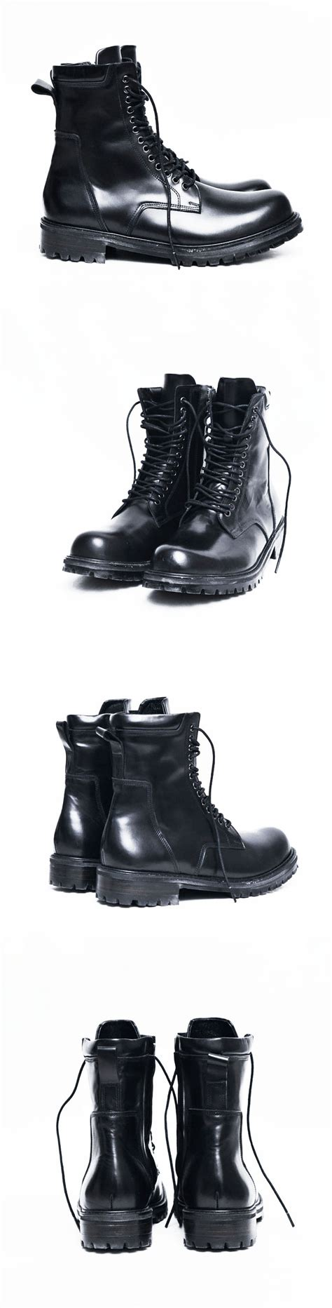 high end motorcycle boots high end mens designers side zip black motorcycle combat