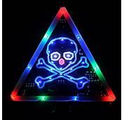 Skull Bone Car Safety Triangle Flashing LED Sign Warning