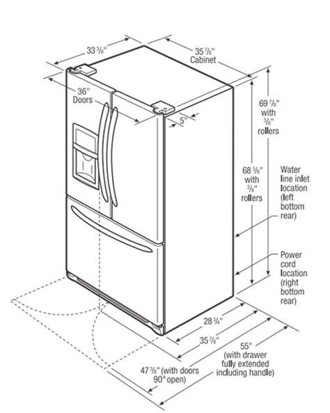refrigerator dimensions frigidaire fghb2866 build com