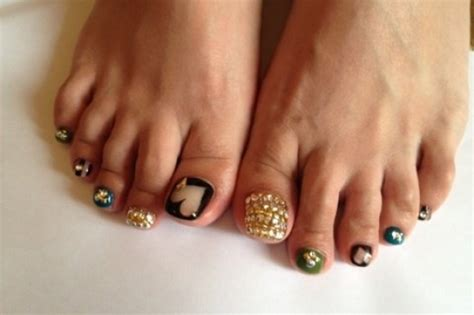 popular pedicures images cool pedicure nail art ideas for fall