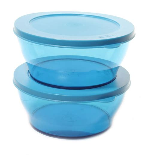 Tupperware Clear Bowl Set 2 tupperware matte finish medium clear bowl available at