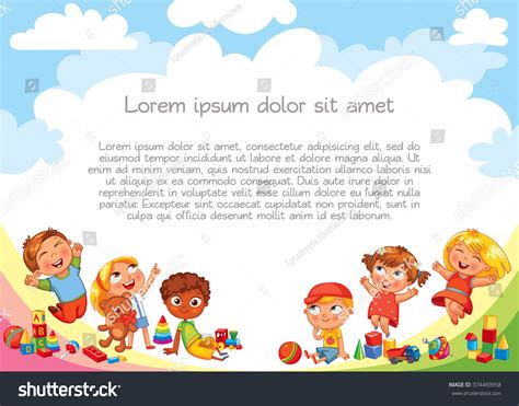 Playground Template Advertising Brochure Ready Your Stock Vector 374493958 Shutterstock Playground Template
