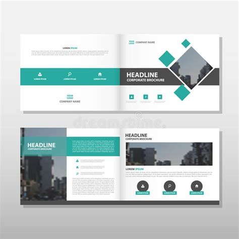 Green Vector Brochure Leaflet Flyer Annual Report Template Design Book Cover Layout Design Process Book Template
