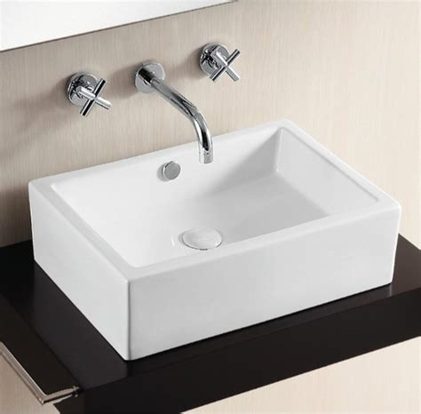 Modern Rectangular Bathroom Sinks Contemporary Above Counter Rectangular Vessel Bathroom