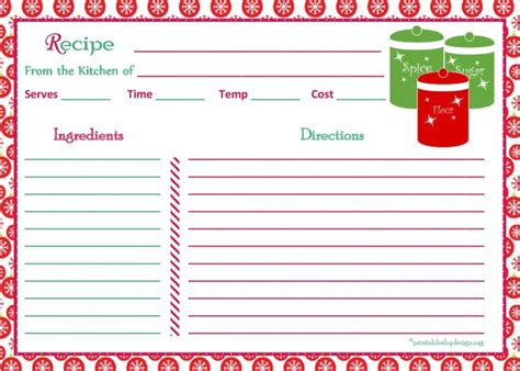 Recipe Cards 5x7 Template by 7 Best Recipe Template Images On Kitchens