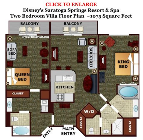 disney vacation club floor plans theming and accommodations at disney s saratoga springs