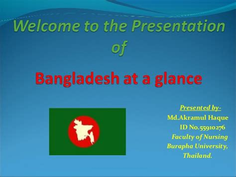 powerpoint tutorial pdf in bangla bangladesh at a glance