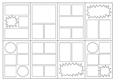 comic book layout template skybluepink products alterables