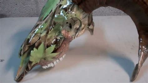spray paint european mount hydrographics custom dipped skulls