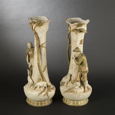royal dux pair of porcelain vases expertissim