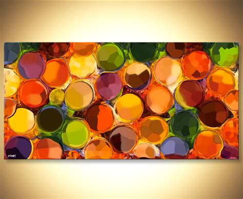 abstract paintings with circles prints painting colorful modern abstract giclee print