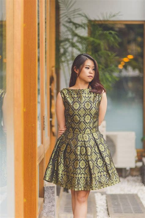 Indonesia T Batik 001 teabag semi peplum batik dress batik dress t