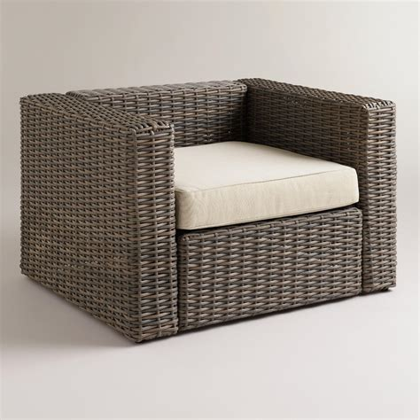 All Weather Wicker Formentera Outdoor Chair With Cushion Wicker Patio Chair Cushions